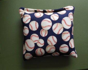 Blue Baseballs Corn hole Bags