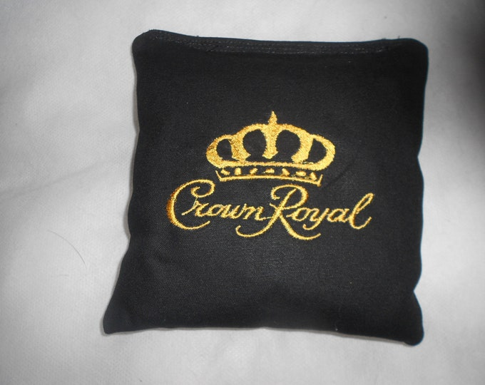 Crown Royal Embroidered Corn hole Bags