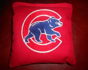 Chicago Cubs  Embroidered  Corn hole Bags