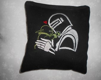Star Wars  Mandalorian  and Baby Yoda Embroidered  Corn hole Bags