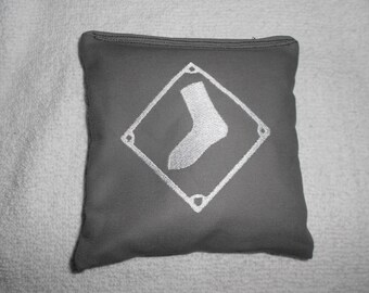Embroidered Grey Chicago White Sox Corn hole Bags