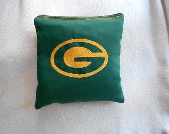 Green Bay Embroidered  Cornhole Bags
