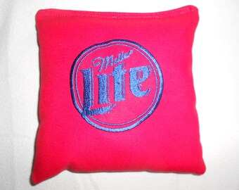 Miller Lite Red  Corn hole Bags