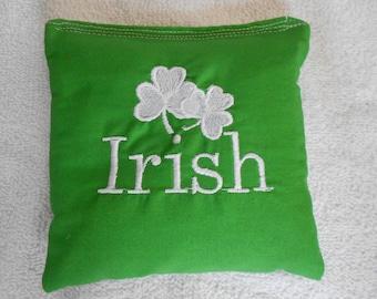 Embroidered Irish Corn Hole Bags