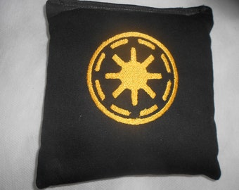 Black and Gold  Star WarsGalactic Empire  Embroidered  Corn hole Bags