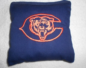 Embroidered Blue  Bears  Corn hole Bags