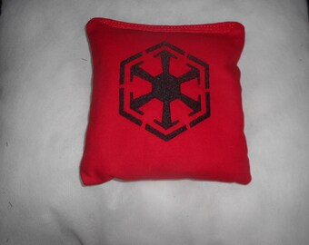 Red and Black Sith Star Wars Embroidered  Corn hole Bags