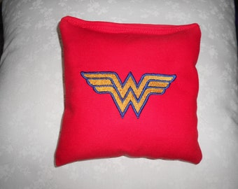 Wonder Woman  Embroidered  Corn hole Bags