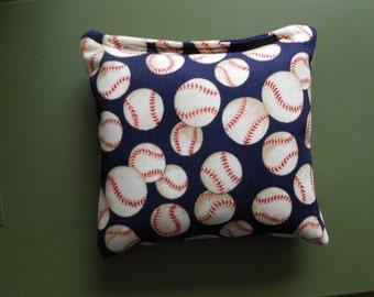 Blue Baseballs Corn hole Bags