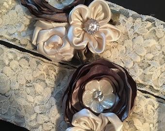 Lace garter set