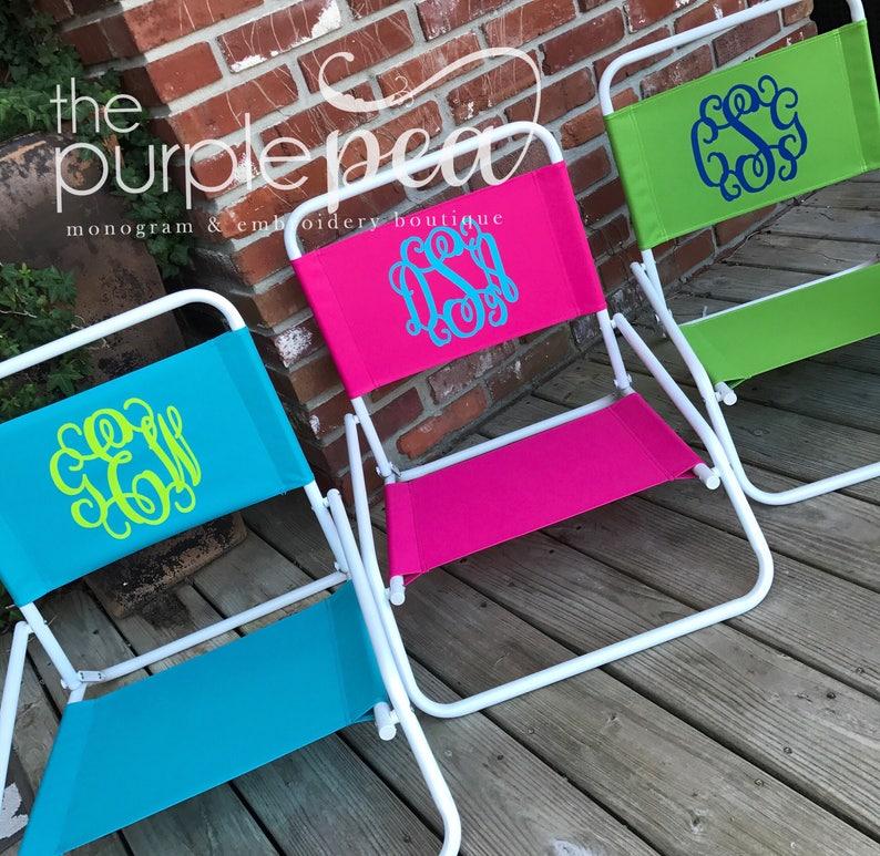Monogrammed Beach Chair Monogrammed Sand Chair Lounge Chair image 0