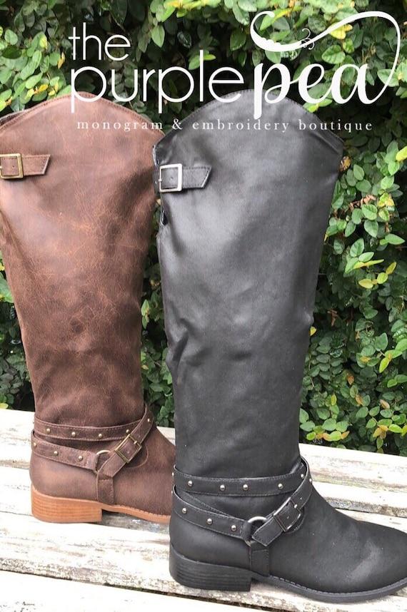 Monogrammed Ladies Boots Monogrammed