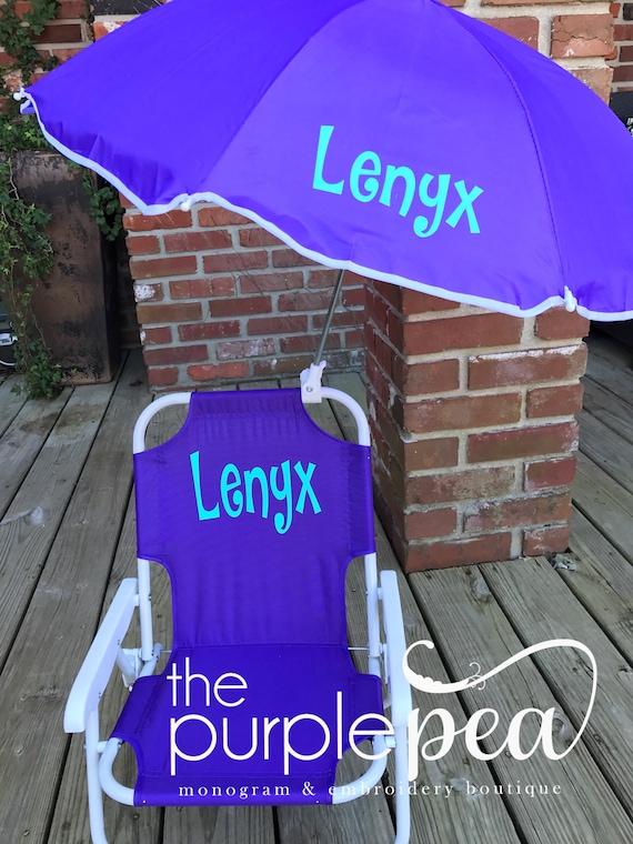 Groovy Monogrammed Kids Beach Chair W Umbrella Boys Chair Childs Beach Chair Kids Beach Chair Easter 2017 Spring Break 2017 Customarchery Wood Chair Design Ideas Customarcherynet