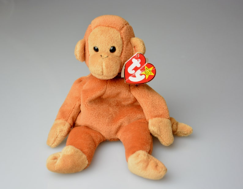 2208e38b0ef Vintage TY Toy Bongo the Monkey 1995 The Beanie Original Baby
