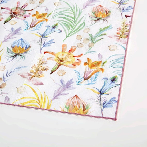 Shabby flower decoupage paper napkins floral paper napkins etsy image 0 mightylinksfo