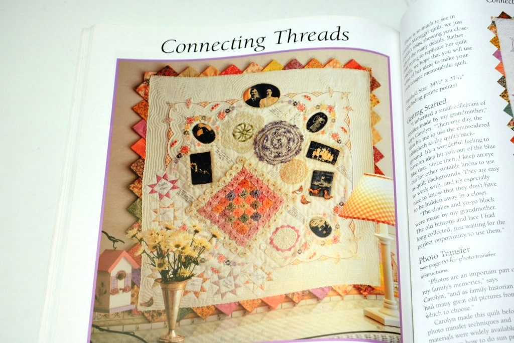 Vintage Craft Book Memory Quilts In The Making By Rhonda Etsy