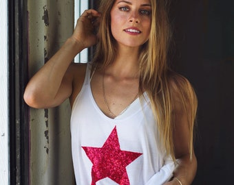 4th of July Shirt Tee Tank. Sequin Star Tank Tee T Shirt. Red White and Blue. USA. Fourth of July. America American Flag Shirt. Plus Size