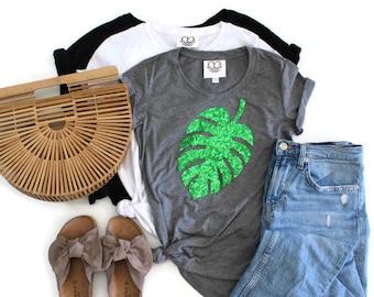 6060e35e71 Palm leaf shirt   Etsy
