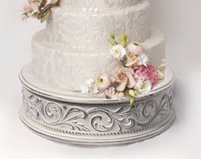 """Vintage wedding cake stand for shabby chic weddings size 17"""""""