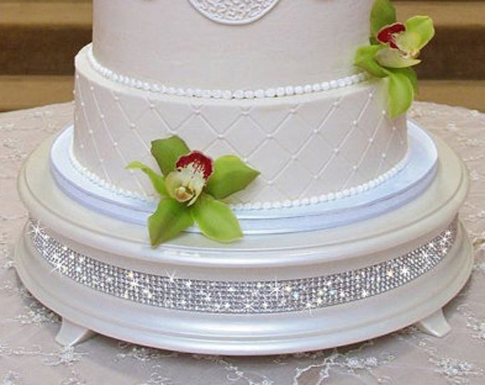 16 inch Ivory Pearl Diamond Bling Wedding Cake Stand