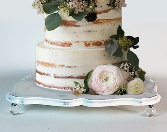 "20"" Shabby chic wedding cake stand and serving tray"