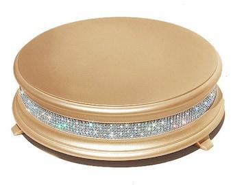 14 inch Gold Diamond Bling Wedding Cake Stand