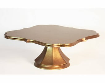 Gold deco wedding cake pedestal wedding cake stand