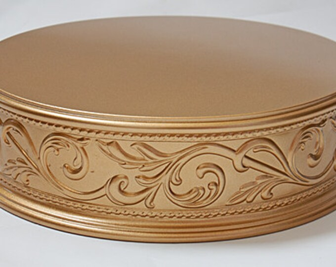 17 inch Gold Cake Stand