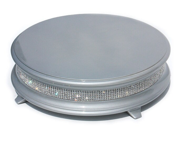 22 inch Silver Diamond Bling Wedding Cake Stand
