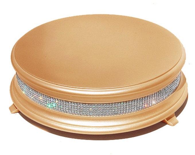 18 inch Gold Diamond Bling Wedding Cake Stand