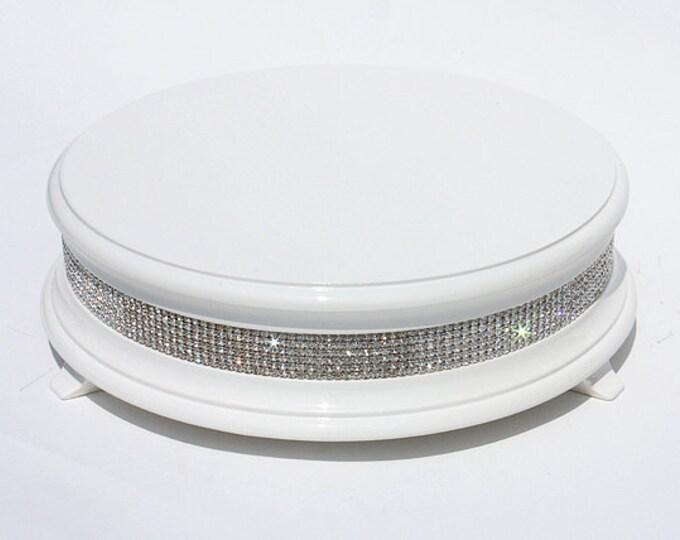 14 inch White Diamond Bling Wedding Cake Stand