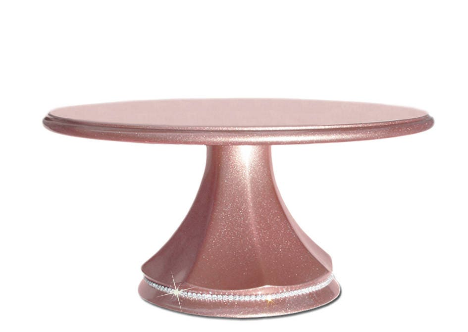 Rose gold wedding cake stand pedestal with crystal band available in gallery photo solutioingenieria Images