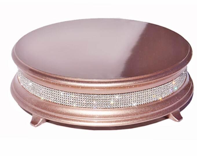 "16"" Rose Gold  Diamond Bling Wedding Cake Stand"