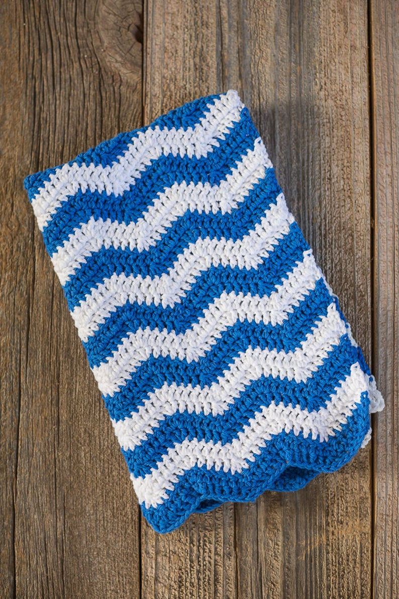 Ripple Crochet Dish Towel Pattern Crochet Kitchen Towel Etsy