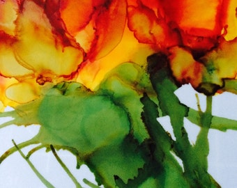 Original, OOAK  alcohol ink painting,art prints