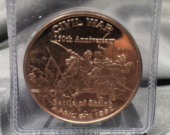 Civil War Battle of Shiloh  1  Ounce  .999 Fine Copper Coin