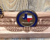 Etched Army PILOT Wings Challenge Coin Display Solid Oak Holds up to 12 Coins