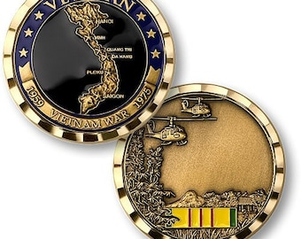 Vietnam War Veteran  Challenge  Coin