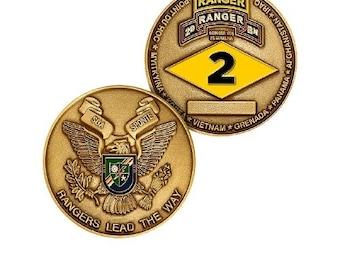 2D Ranger Battalion Challenge Coin RANGERS Lead The Way