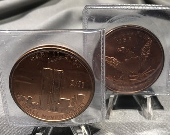 Sept 11, 2001  We Shall Never Forget   1  Ounce  .999 Fine Copper Coin