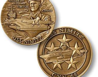 USS NIMITZ CVN - 68 Challenge Coin
