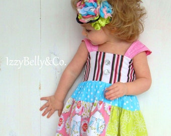 Girls Sweet Sophia Dress by IzzyBelly&Co. Sizes 18/24m ~ 6 Handmade in the USA