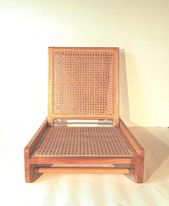 image 0 - Brown Ash Beach Chair Campfire Chair Fire Pit Chair Folding Etsy