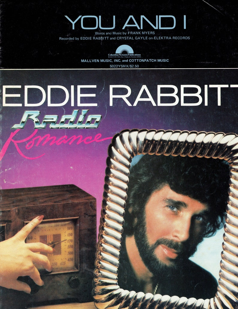 Vintage Sheet Music to Frame You and I Eddie Rabbitt Graphic image 0