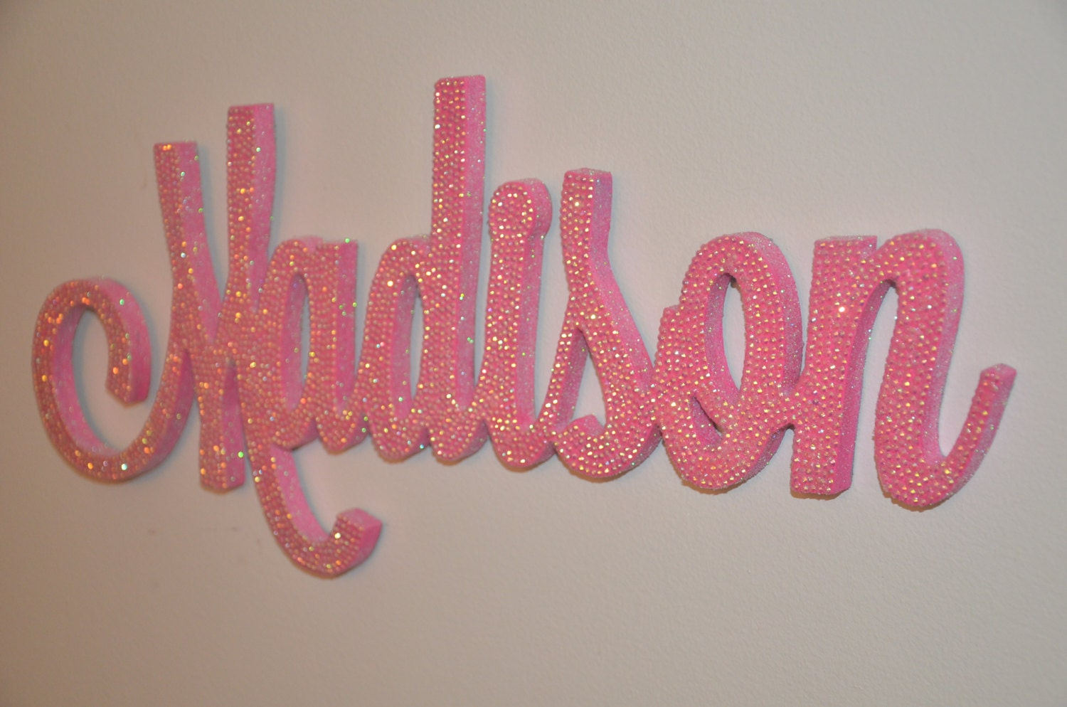 18 inch rhinestone name plaque bling decorative wall letters. Black Bedroom Furniture Sets. Home Design Ideas