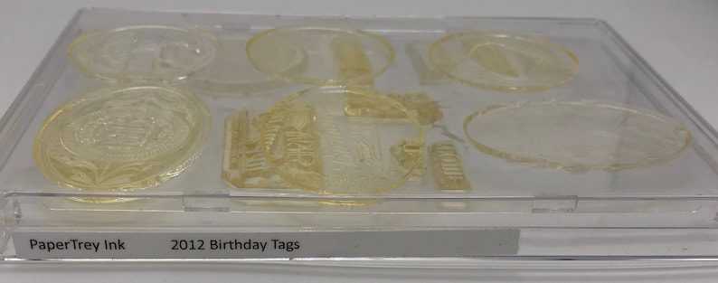 IN THE VAULT *** Papertrey Ink Stamp Set 2012 Birthday Tags