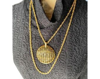 Gold Medallion Vintage Necklace