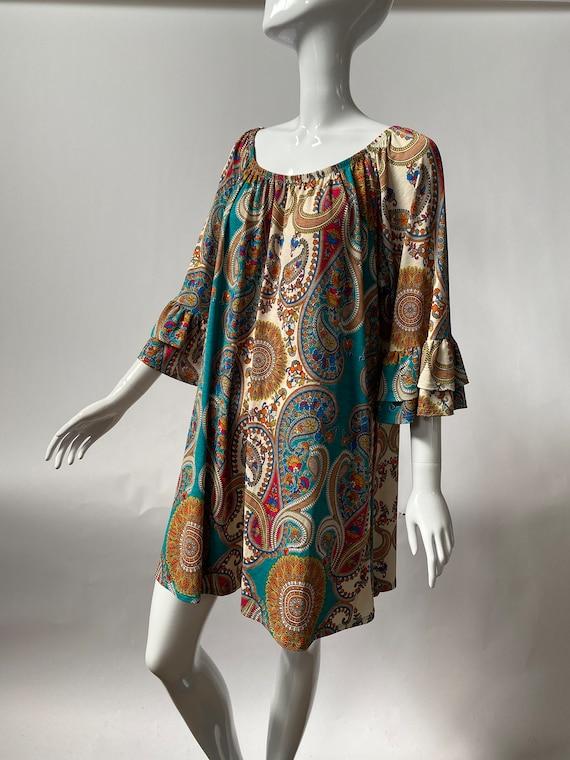 Paisley 70's Smock Dress