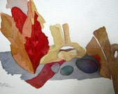 "Fall Series :  "" Vertebra Among the Leaves of Autumn""    Original, One-of-a-Kind"