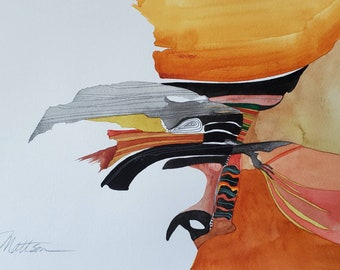 """SPRING SALE Southwest Series """" Spiritual Canyon"""" one of a kind original watercolor."""